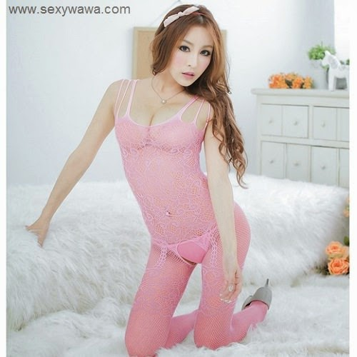 a8f3ddfec Sexy Transparent Pink Fishnet Body Stocking KL015PK ❤ Price  RM39 For more  information   www.sexywawa.com