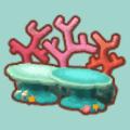 サンゴのベンチ