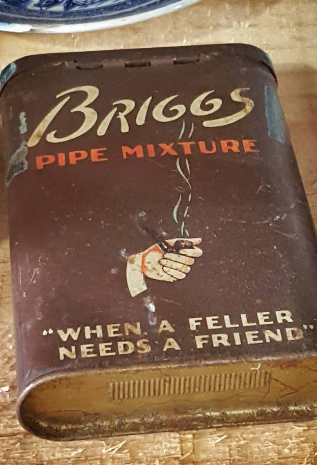 photo of an old tobacco tin