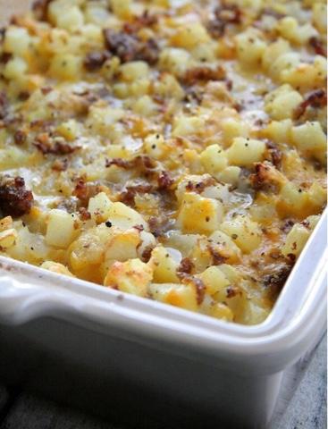 Cheesy Potatoes Breakfast Casserole