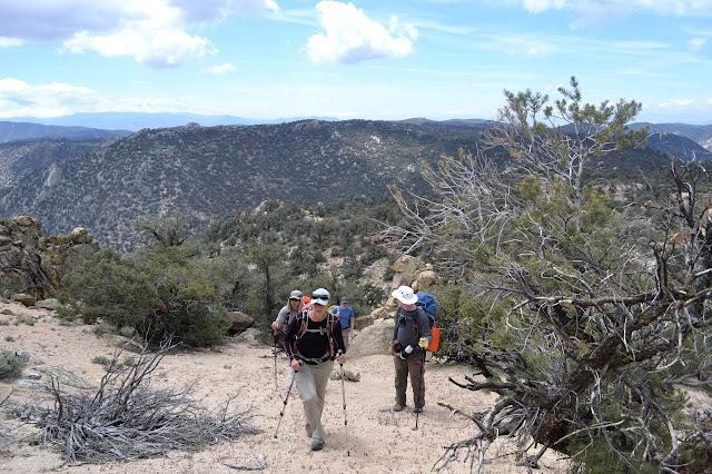 climbing the ridge line