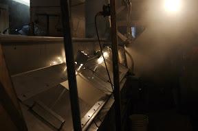 Inside a syrup shack
