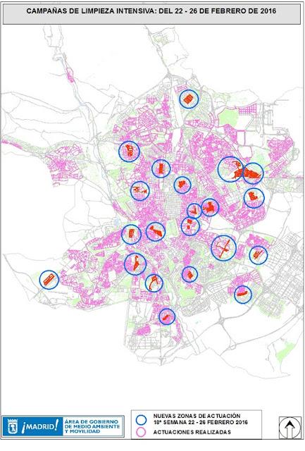 Limpiezas intensivas en 21 barrios del 22 al 26 de febrero