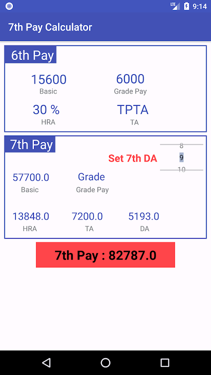 7th Pay Arrears Calculator – (Android Apps) — AppAgg