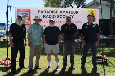 Paradise ARS Members. Left to Right: Doug KD6LOK, Grant KK6FKW, Jerry KM6JIF, Chris WA6CP, Robert KJ6ZEB