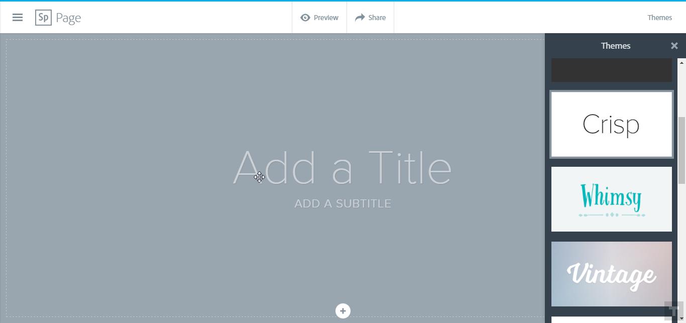 Создание Веб-Страницы в Adobe Spark
