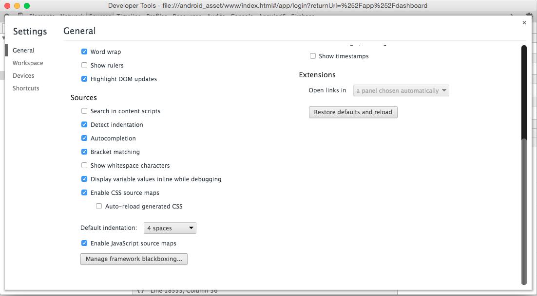 Chrome Source Maps on