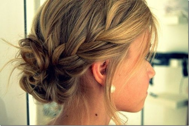 braided bun'