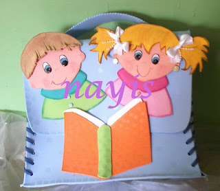 maletin escolar en foami para niño y niña