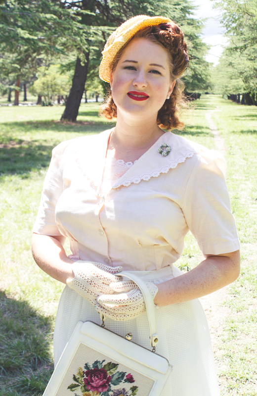 1940's vintage summer style | Lavender & Twill