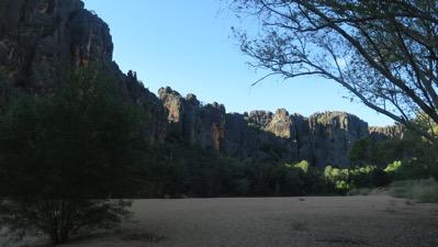 Windjana Gorge Looking Down it