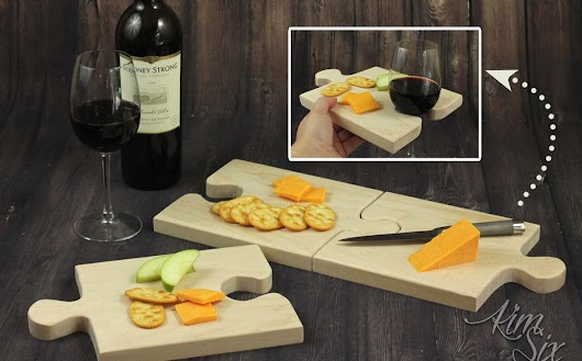 Puzzle Piece Expandable Cutting Boards and Serving Trays