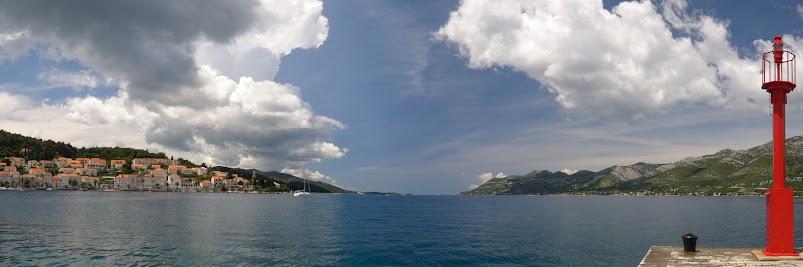 Blick vom Hafen von Korčula nach Westen