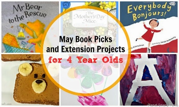 May book picks and reading activities for 4 year olds
