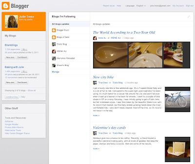 Novo painel de controle do Blogger