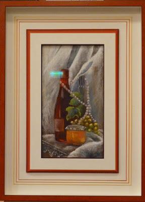 Le pastel de Dany Dangelser et son encadrement par Jannick Clowez, symbole de ce salon