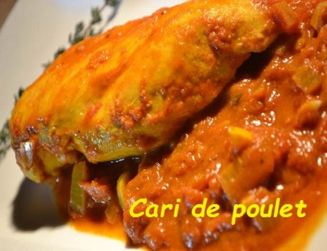 recette du savoureux cari de poulet