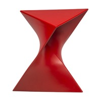 LeisureMod Randolph vanity stool red