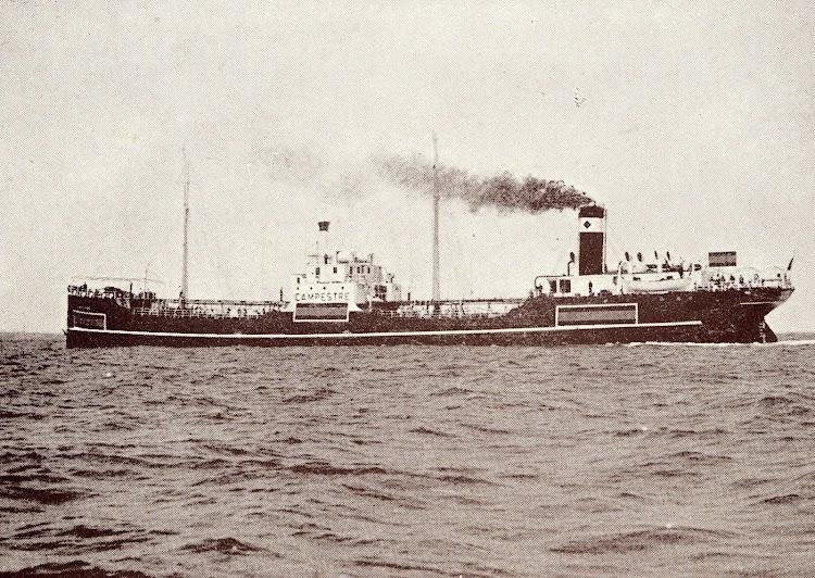 Pruebas de mar del CAMPESTRE tras la reparación efectuada en la Unión Naval de Levante. Se aprecian las feas marcas de neutralidad. Del libro UNION NAVAL DE LEVANTE. 1924-1949.jpg