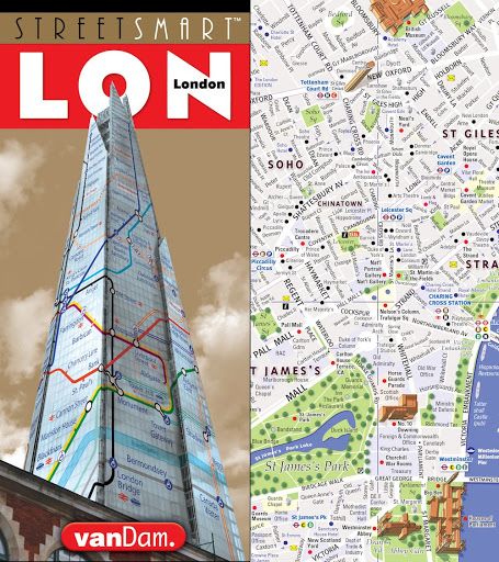 StreetSmart London Map by VanDam - City Street Map of London, England - Laminated folding pocket size city travel and Tube map with all museums, attractions, hotels and sights; 2017 Edition - Books Europe