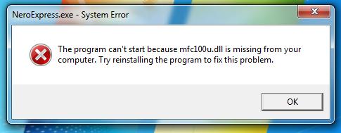Mfc100u dll windows 7