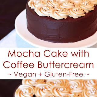 Gluten-Free Mocha Cake with Vegan Coffee Buttercream