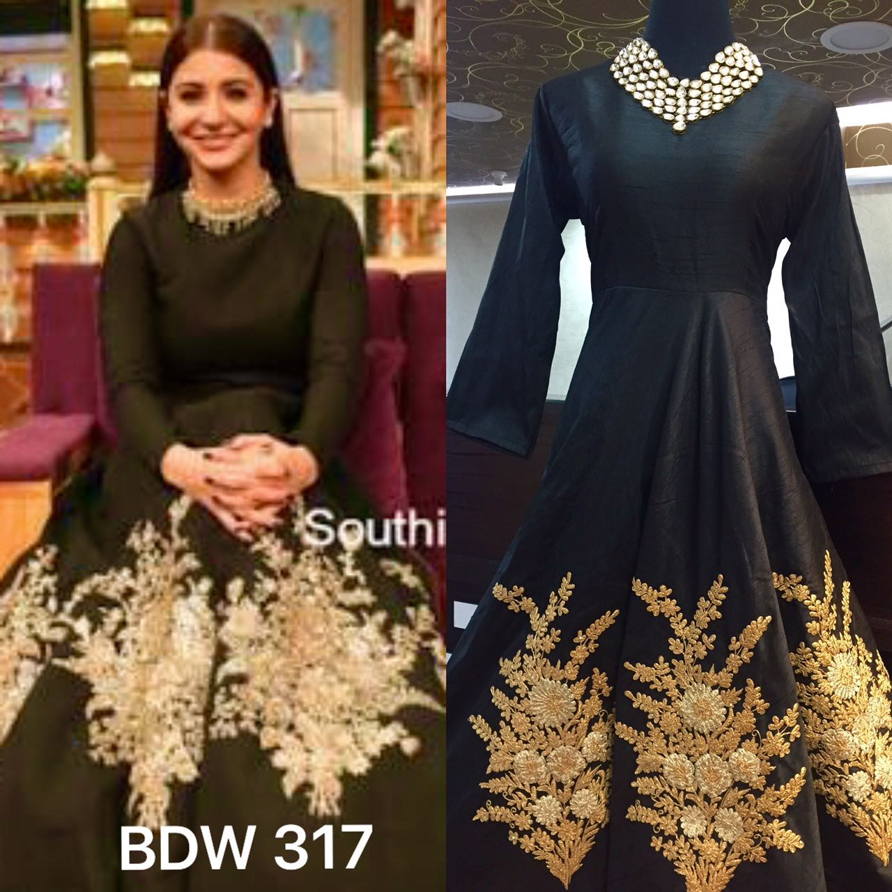 Designer Raw Silk Gown @ Rs. 4300 | Koyal Fashions Kurtis and Gowns
