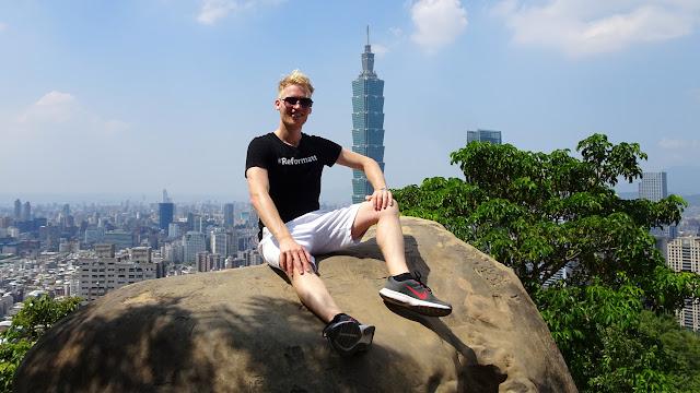 mesmerizing views of Taipei from Elephant mountain in Taiwan in Taipei, T'ai-pei county, Taiwan