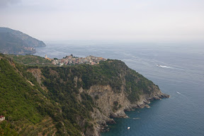 Corniglia on a hill