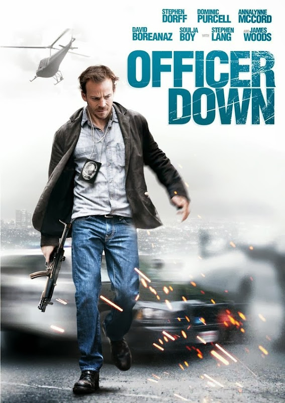 Poster Of English Movie Officer Down (2013) Free Download Full New Hollywood Movie Watch Online At Alldownloads4u.Com