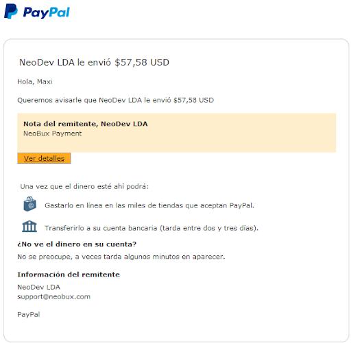 Pago $57,58 de Neobux SIn Inversion Pago%2520de%2520neobux%2520%252457%252C58