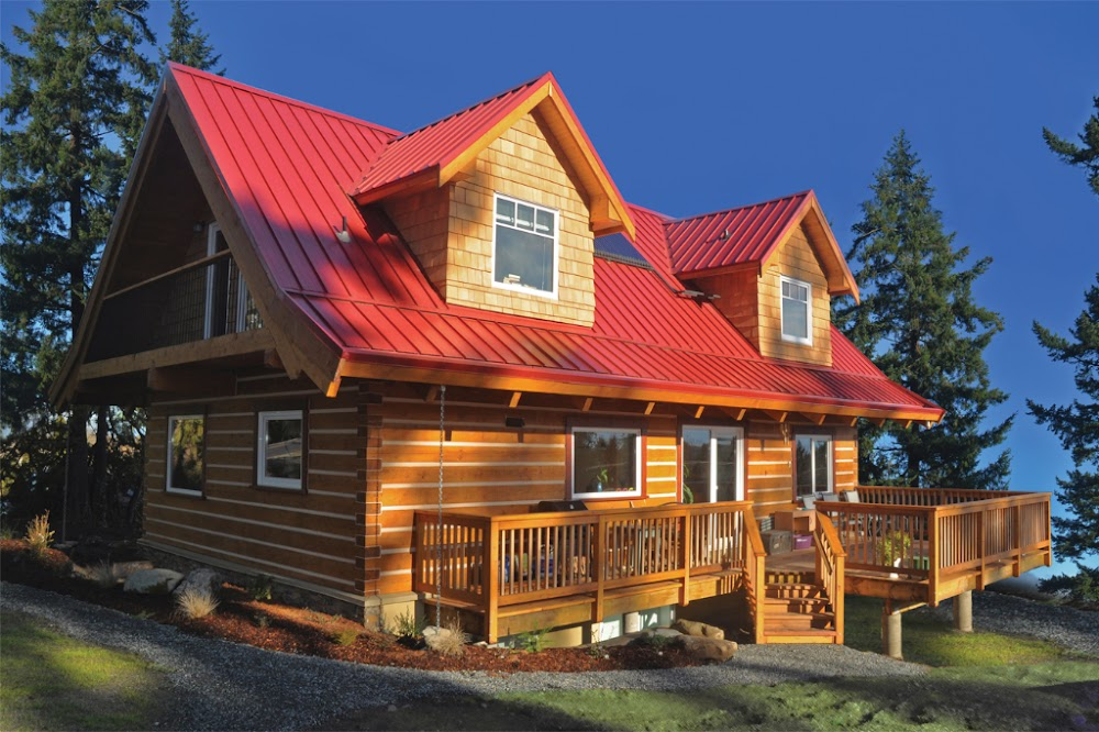 Picture gallery of ecolog log homes for Log cabin kit homes victoria