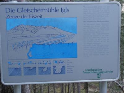 Am Earthcache Gletschertopf Innsbruck-südliches Mittelgebirge (GC20PEJ)
