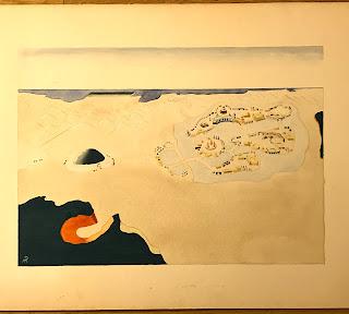 Graphite and Watercolor Landscape