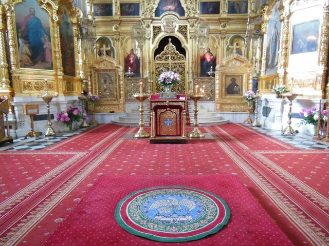 Interior de la iglesia Ortodoxa de Santa María Magdalena