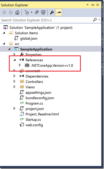 aspnet-core-1.0-app-in-solution-explorer
