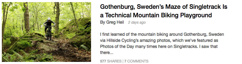 http://www.singletracks.com/blog/mtb-trails/gothenburg-swedens-maze-of-singletrack-is-a-technical-mountain-biking-playground/