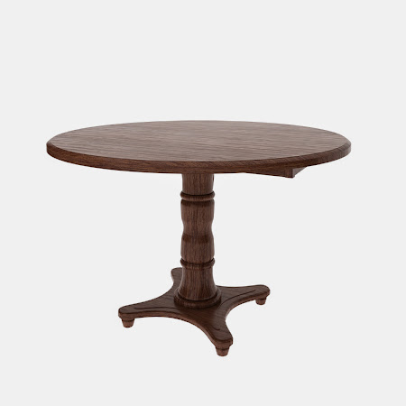 Round Lotus Drop Leaf Table