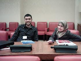 Construyendo Comunidaes con Futuro. Abdelaziz Hammaoui y Gemma Ballesteros del CCIV