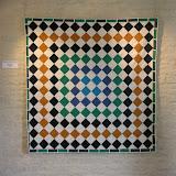 AZAHAR - Françoise Loréal - piécé machine et quilté main Reproduction d'une mosaïque du Palais de L'Alhambra de Grenade - Espagne