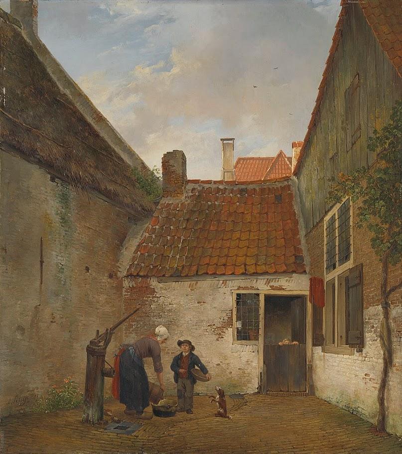Andreas Schelfhout - Binnenplaatsje