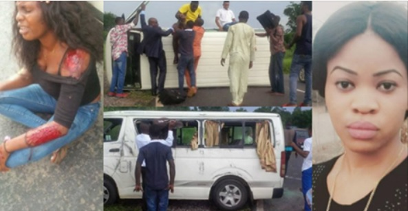 Nigerian Lady Thanks God For Saving Her From An Accident (Photos)