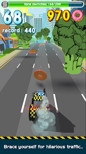 Crazy Road Cops 🚔 Race for Donuts- screenshot thumbnail