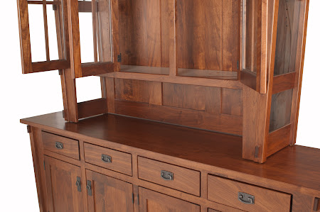 Baroque China Cabinet in Rich Cherry