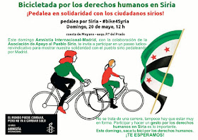 Bicicletada por los derechos humanos en Siria