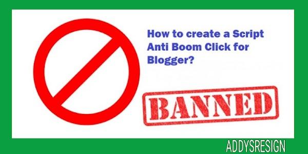 Cara membuat blog anti boom klik terbaru 2019