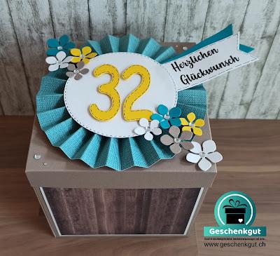 Geschenkbox Explosionsbox Überraschungsbox Zeit schenken Gutschein Ausflug