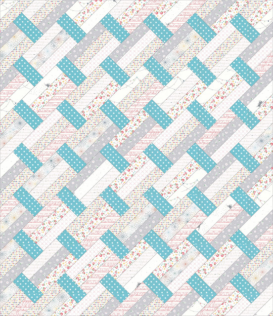 Scrappy low volume version of Fast Track quilt pattern by Andy of A Bright Corner