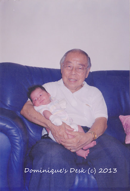 My grandfather with my 1st born back in 2004