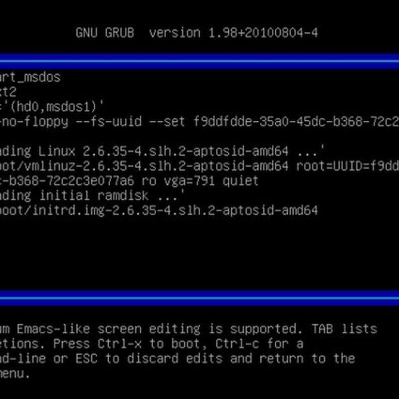 Cómo reparar fácilmente el cargador de arranque del sistema (GRUB).